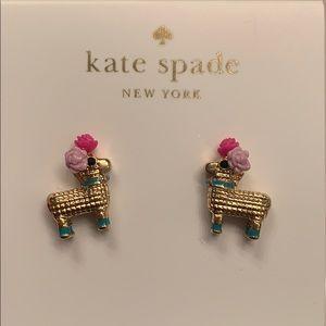 Kate Spade llama earrings